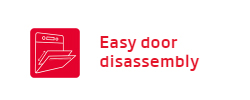 Lò nướng Fagor easy door disassembly